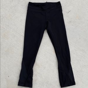 Lululemon 2 Run Inspire Crop Black Legging